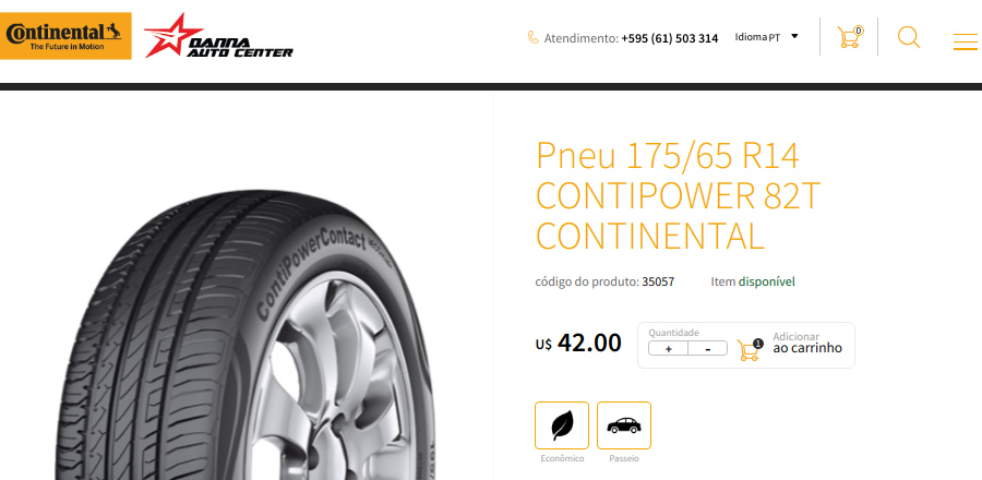 preço de pneu em loja do Paraguai