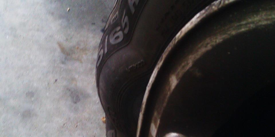 pneu com bolha